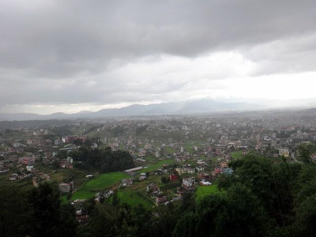 View getting closer- A Rainy Hike to Kopan Monastery