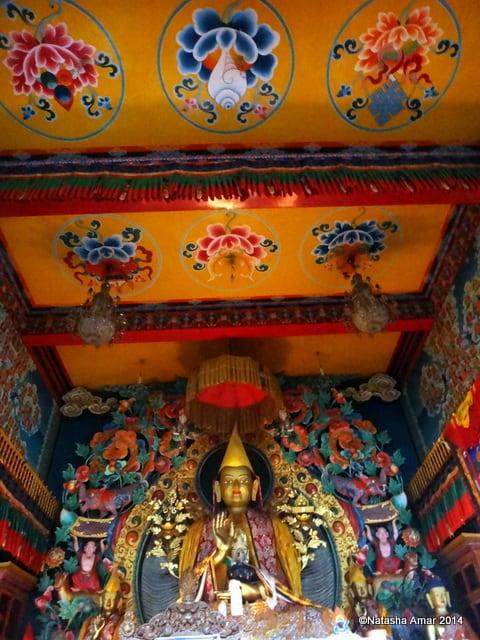 Inside the Prayer Hall- A Rainy Hike to Kopan Monastery