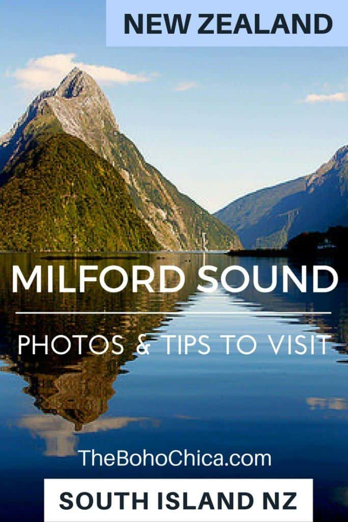 Milford Sound: Photos and tips to visit the beautiful fjords of Milford Sound, an easy day trip or cruise from Queenstown on South Island New Zealand