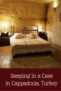 Sleeping in a Cave in Cappadocia