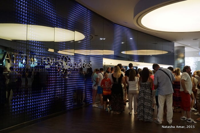 Book in advance to avoid waiting in line and save on ticket prices, at the top burj khalifa