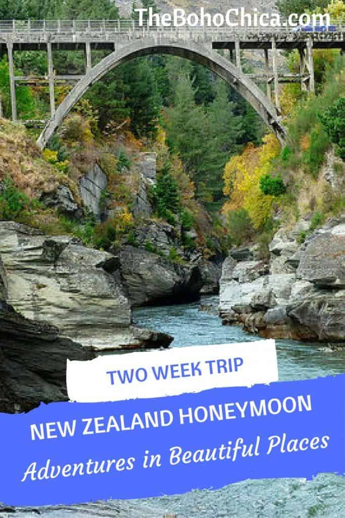 How to Spend Two Weeks in New Zealand: A complete 2 week New Zealand itinerary of adventures in beautiful places for the best spots in the North Island and South Island of New Zealand, from my New Zealand honeymoon. Plus practical tips and advice to plan your own 2 weeks in New Zealand and your New Zealand road trip.