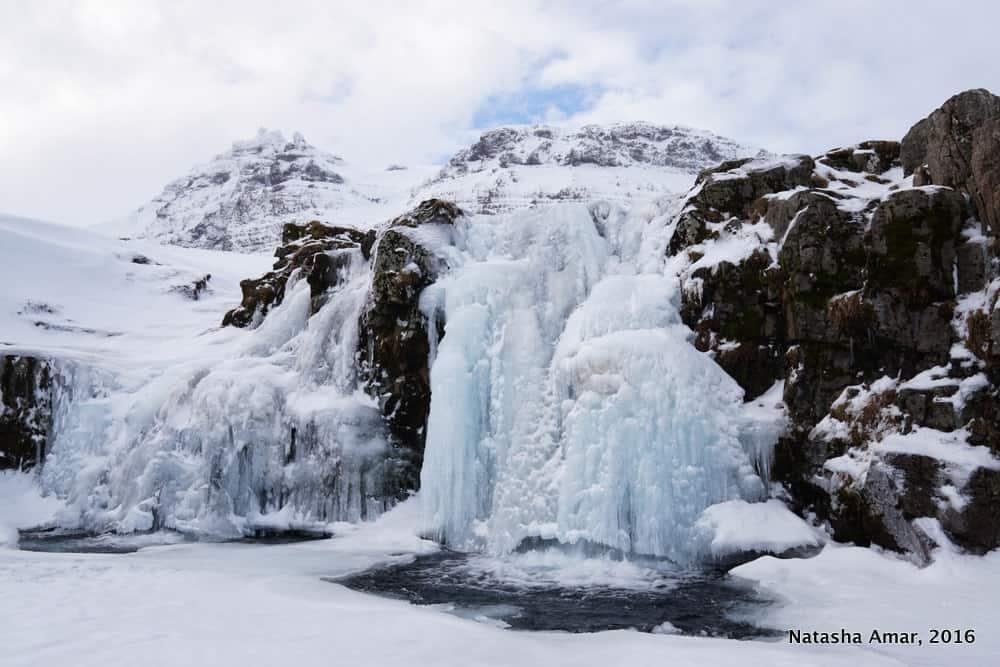 Kirkjufellsfoss in winter- Snaefellsnes Peninsula