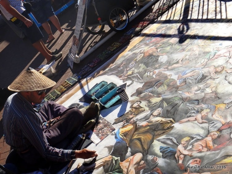 Street artist at Circular Quay