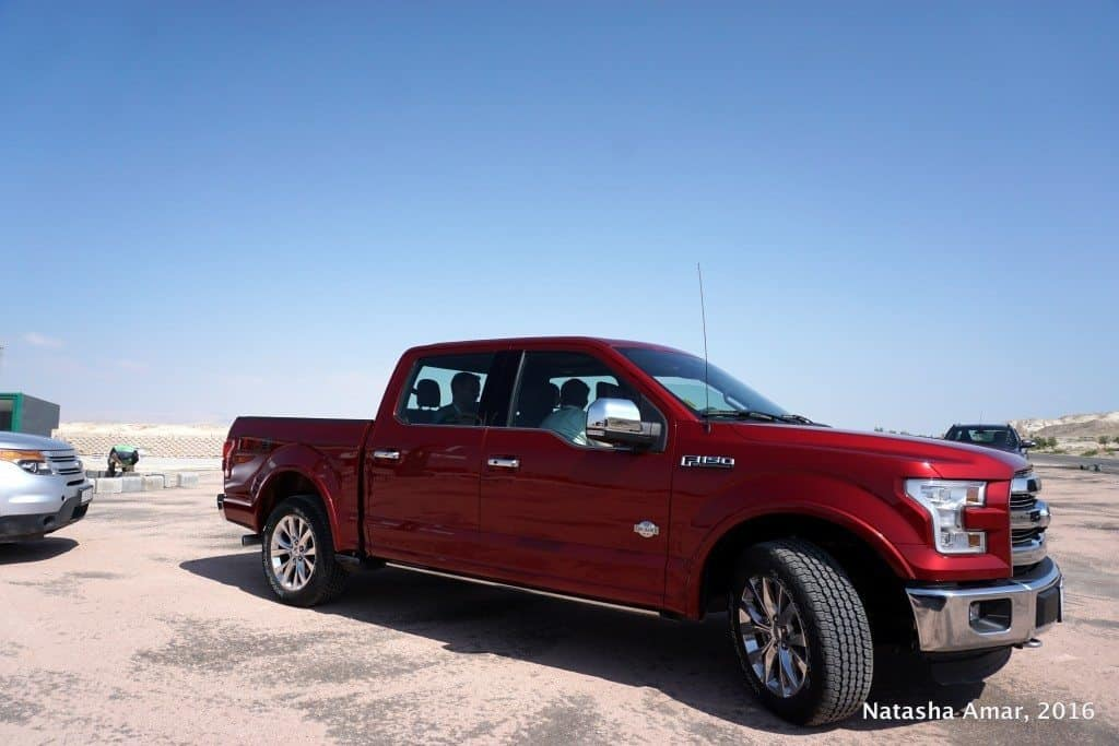 Ford F150 on our roadtrip in Jordan