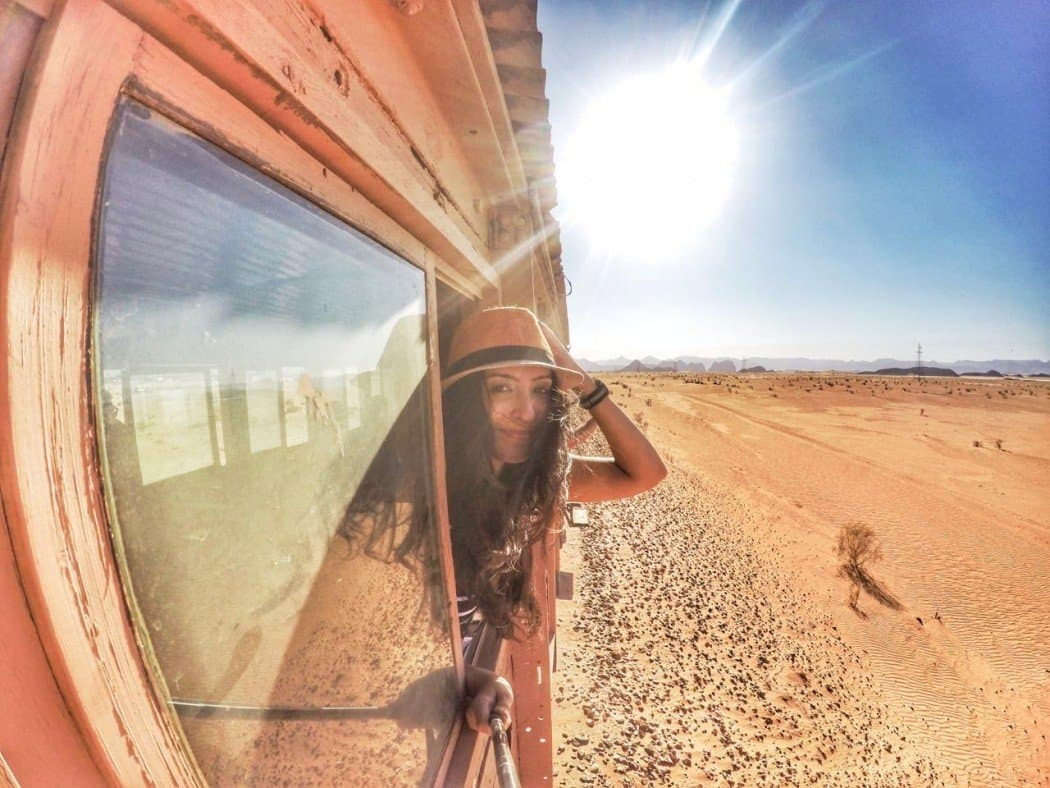 Riding the oldest railway in Jordan across Wadi Rum