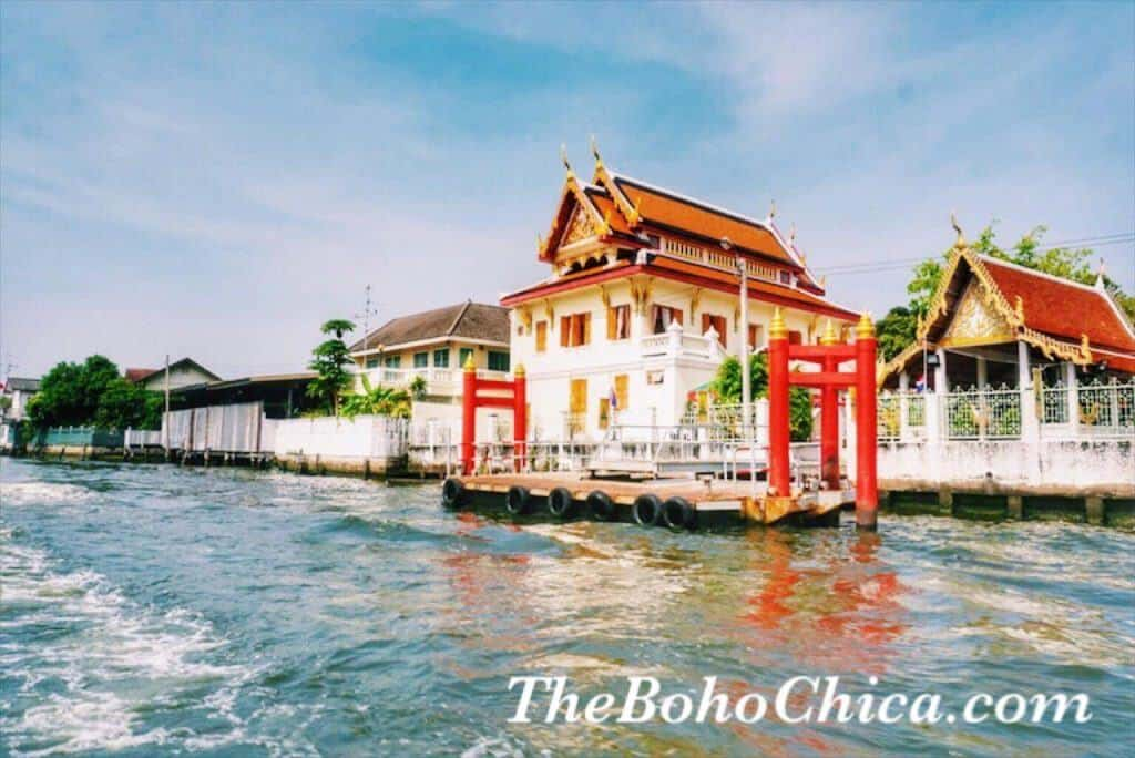 Riverside view in Bangkok