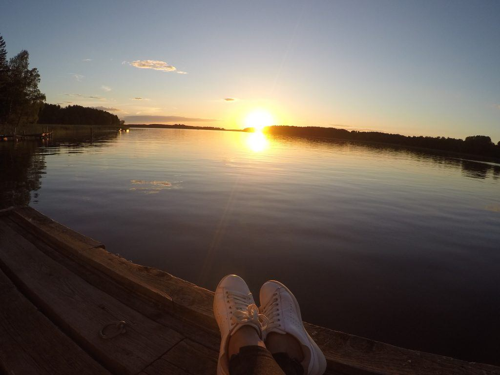 Swedish sunset in the archipelago: Why I Travel Slow and Return to The Places I Love