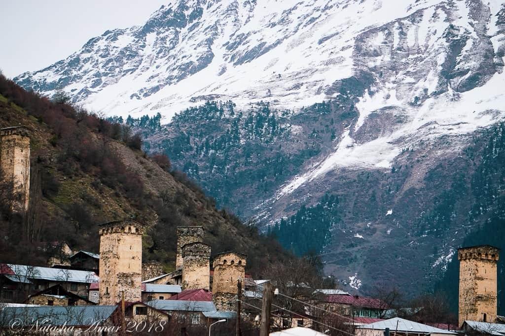 Towers in Mestia, Svaneti Georgia