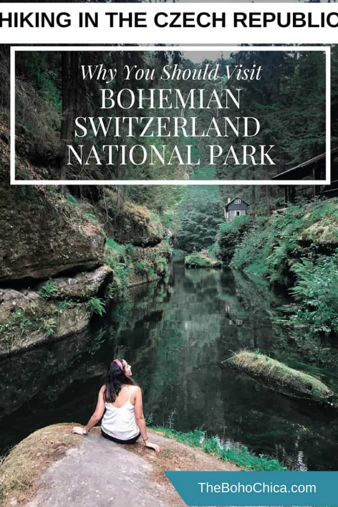 Why you should go hiking in Bohemian Switzerland National Park in the Czech Republic: This paradise-like landscape is a world away from the tourist trail, but is an easy day trip from Prague. Home to lush forests, sandstone towers and mystical river gorges, it was the filming location of The Chronicles of Narnia. Here's why you shouldn't miss it. #bohemianswitzerland #bohemianswitzerlandnationalpark