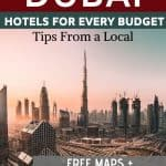 Where to Stay in Dubai: Whether it's hotel apartments, budget hotels or luxury hotels in Dubai near the beach, Burj Khalifa, Dubai Marina, or Palm Jumeirah, use this guide to Dubai accommodation to know where to stay in Dubai. Full breakdown of neighborhoods plus hotel recommendations. Maps included.