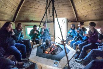 A Taste of the Arctic in Swedish Lapland: Inside a Sàmi smoke hut in Jokkmokk