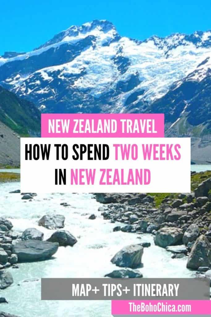 How to Spend Two Weeks in New Zealand: A complete 2 week New Zealand itinerary for the best spots in the North Island and South Island of New Zealand, from my New Zealand honeymoon, to help you plan your own 2 weeks in New Zealand. Plus practical tips and advice for your New Zealand road trip.