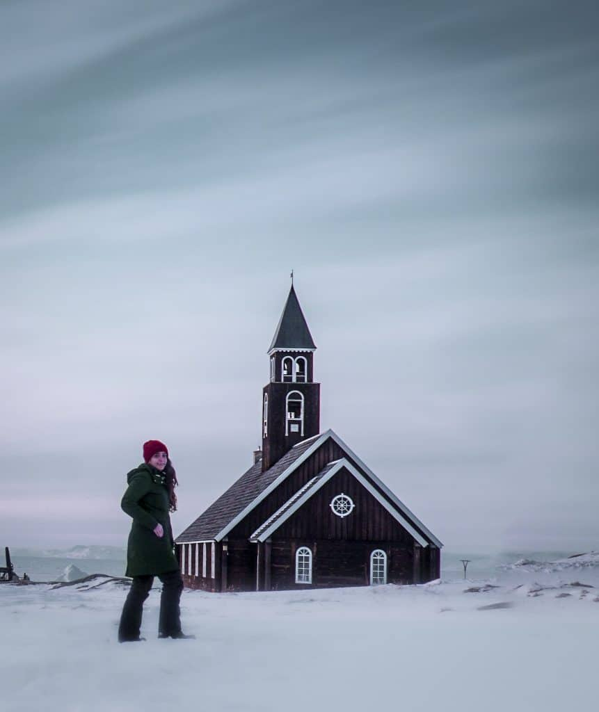 Zions kirke in Ilulissat Greenland