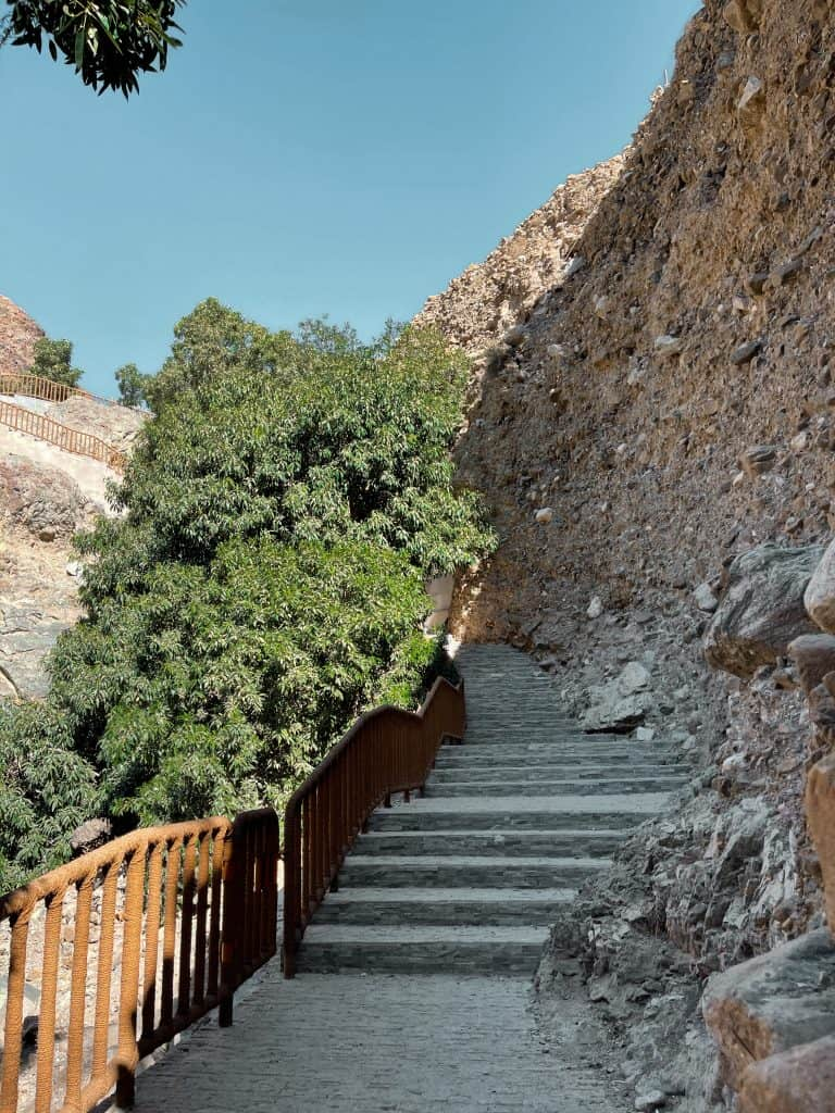 Steps on the Wadi Shees Nature Trail