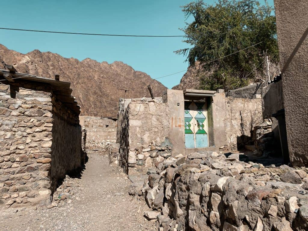 Privately owned homes stand in the village of Wadi Shees