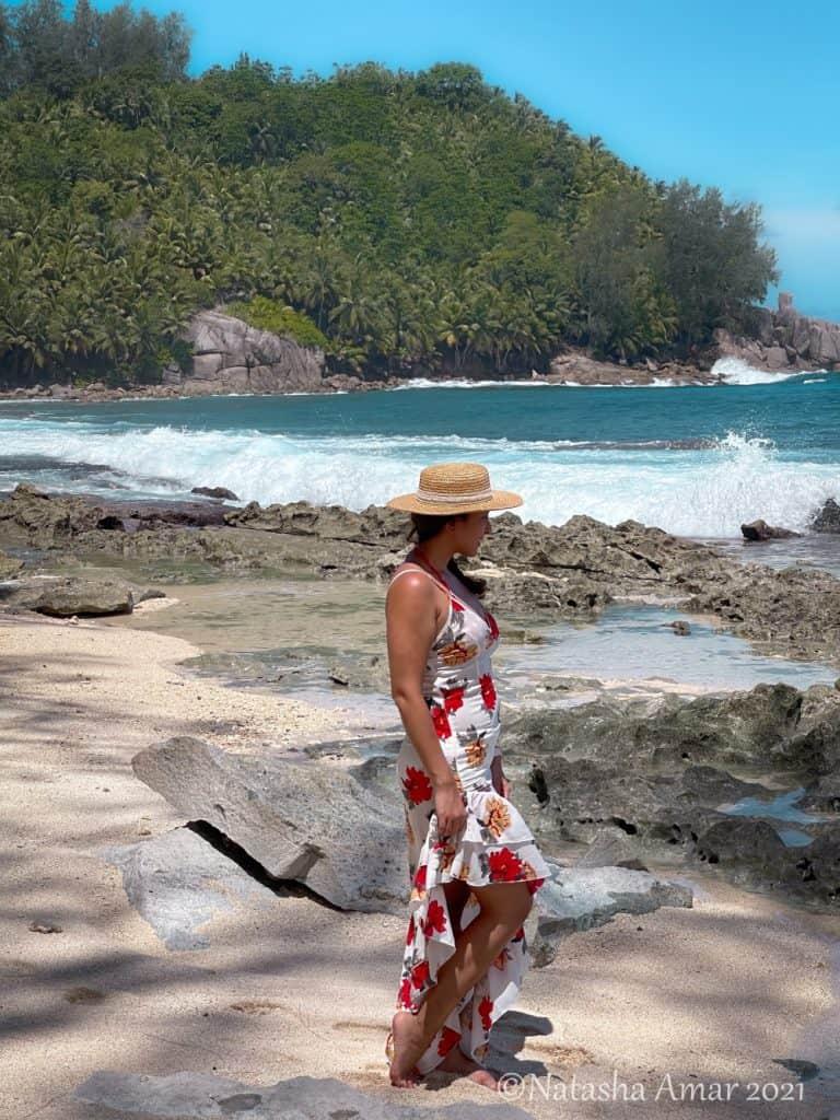 Petit Police Bay Beach in Mahe Seychelles