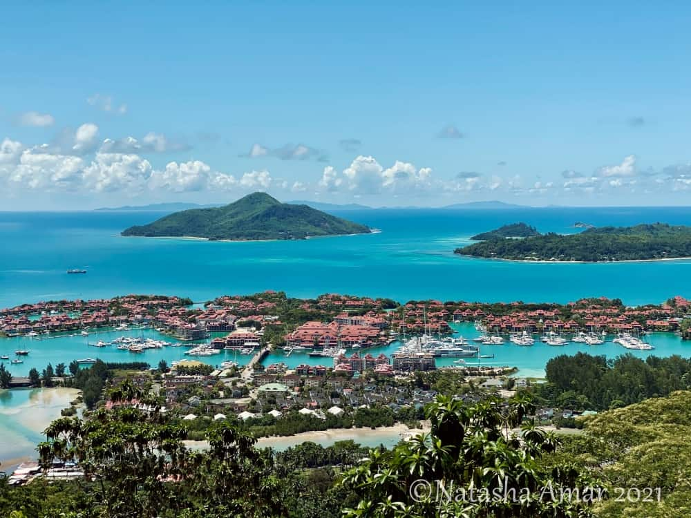 View over Eden Island Seychelles